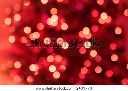 Abstract Background of Lights in Shades of Red - stock photo