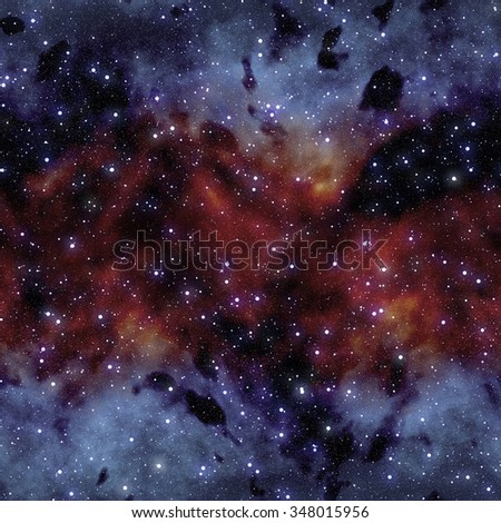 Abstract background of outer space and Milky Way galaxy (Tiles seamless, High resolution CG rendering) - stock photo