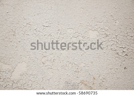 Abstract background of peeling and cracked white paint - stock photo
