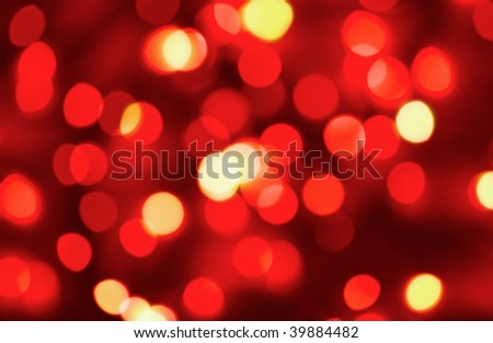 Abstract background of red holiday lights - stock photo