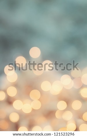 Abstract background of retro tinted holiday lights with copy space. - stock photo