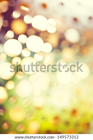 Abstract background of retro tinted lights with copy space, defocus background - stock photo