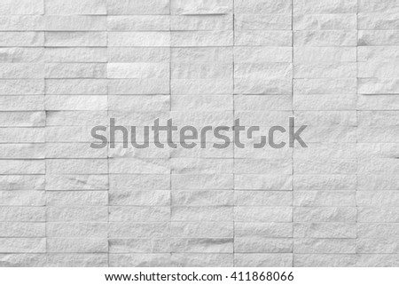 Abstract background of  texture brick light gray in  urban room, grungy blocks of stonework technology color horizontal architecture wallpaper - stock photo
