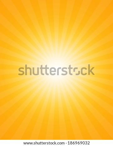 Abstract background of the shining sun rays. Sun - stock photo