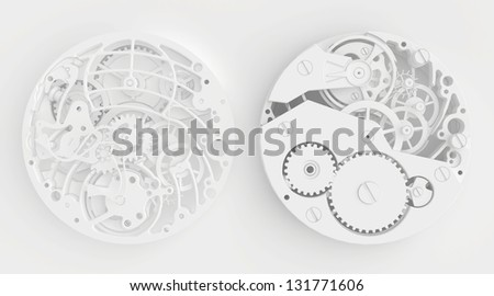 abstract background of the watch - stock photo