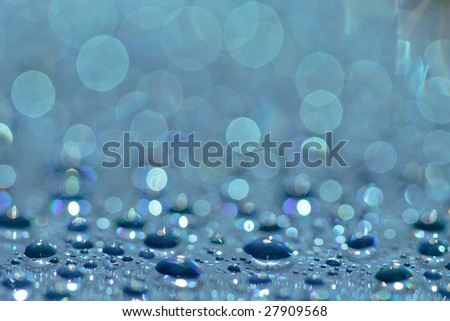 Abstract background of water drops on a CD - DVD - stock photo