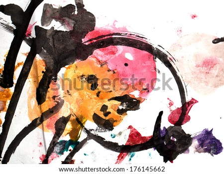 abstract background of watercolor - stock photo