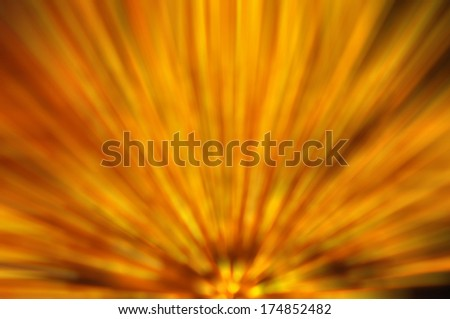 Abstract Background Of Yellow Light Zoom Bottom Side Motion Blur