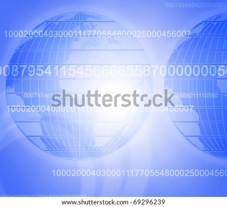 Abstract background on global business with the planet Earth in the background. - stock photo