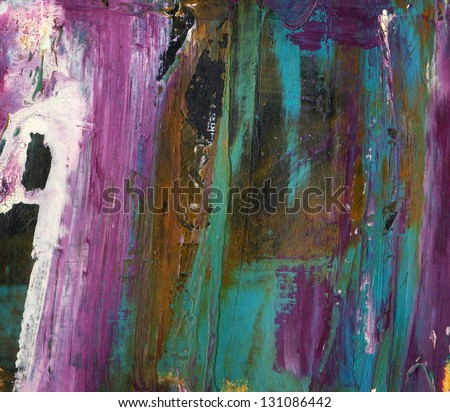 Abstract  background or texture created with multiple layers of  mixed media elements. - stock photo