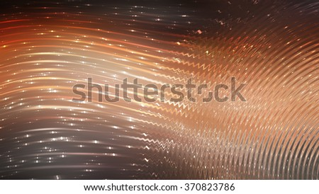 abstract background. orange background with waves and stars