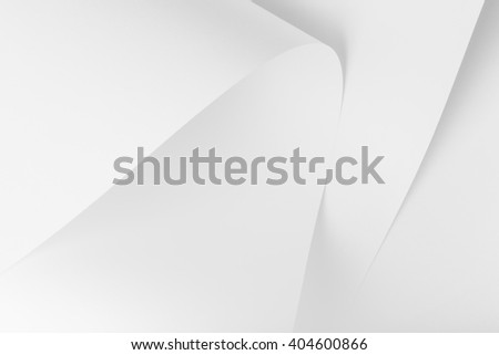Abstract, background picture of white sheets of paper. - stock photo