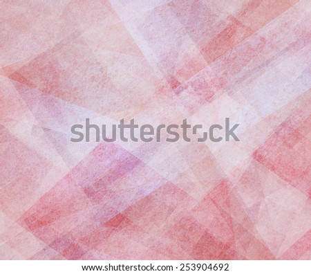abstract background pink and white square and diamond shaped transparent layers in diagonal pattern background - stock photo