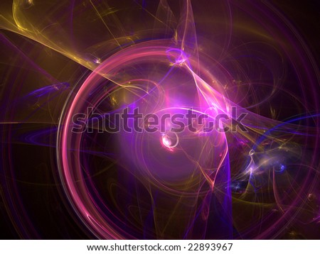 Abstract background. Purple - blue palette. Raster fractal graphics.