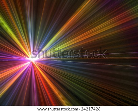 Abstract background. rainbow palette. raster fractal graphics. - stock photo