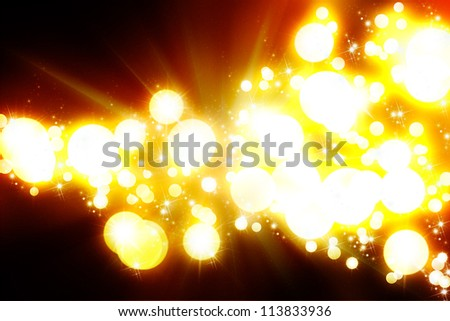 Abstract Background - rays of colorful light with big bombs. - stock photo
