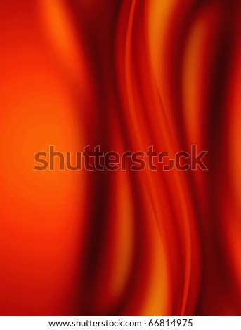 abstract background, red curve folded cloth - stock photo