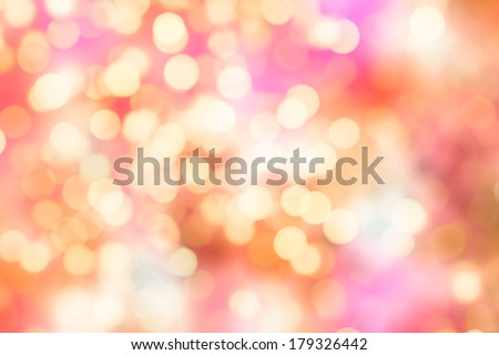 Abstract background. Representation of joy. De-focused particles or lights. - stock photo