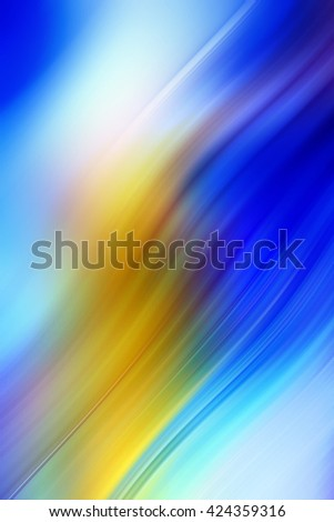 Abstract background representing speed, motion and burst of colors and light in blue, yellow, orange colors. - stock photo