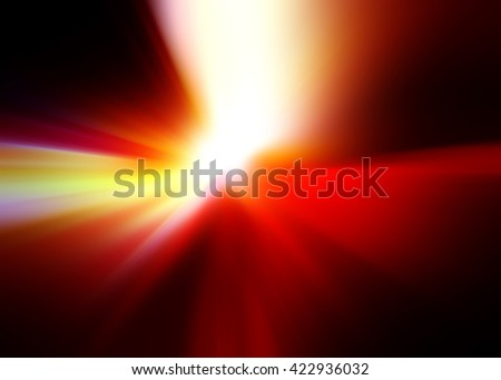 Abstract background representing speed, motion and burst of colors and light in red, white, yellow, brown and black colors. - stock photo