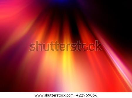 Abstract background representing speed, motion and burst of colors and light in red, yellow, orange and black colors. - stock photo