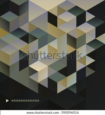 Abstract  Background  retro geometric mosaic for brochure or banner