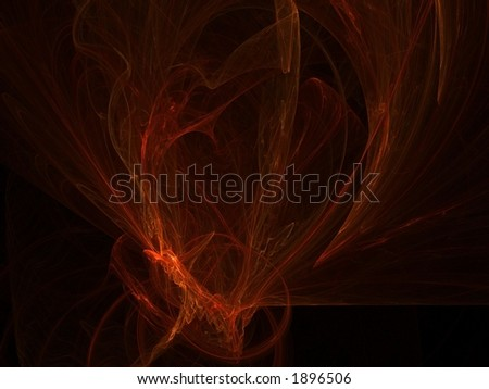 Abstract background showing swirls of red light