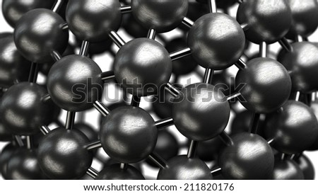 abstract background. silver glossy molecules structure High resolution 3d render