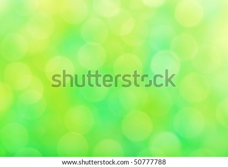 Abstract background, spring green sparkle - stock photo