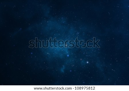 Abstract background - Starry night, space, universe and galaxy, the Milky way - stock photo