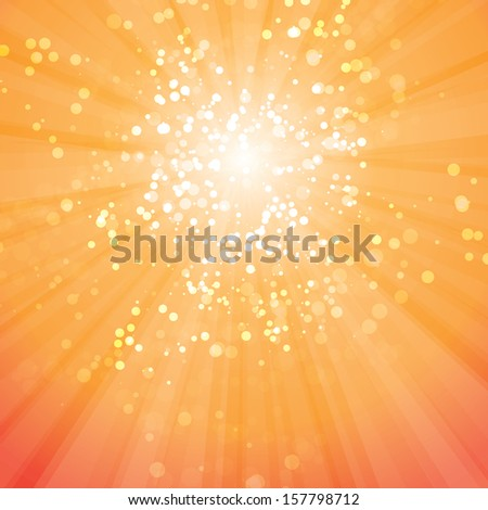 Abstract Background - Sun Rays with Bubbles - stock photo