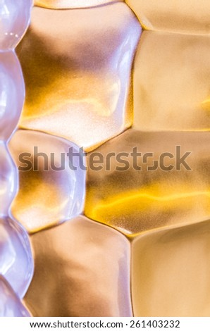 Abstract background texture,concave piece of metal - stock photo