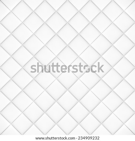 Abstract background texture of an old natural luxury, modern style leather with rhombs. Classic white, light and dark gray grungy skin of retro wall, door, sofa or studio interior with flat rectangles - stock photo