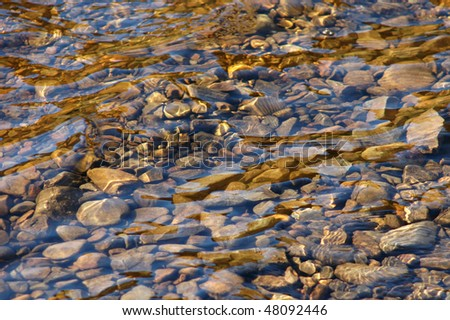 Abstract background texture of some smooth stones in a river