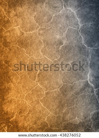 Abstract background textured in warm and cold colors that gradients from the side with brighter cracks.