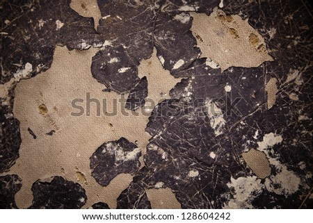 abstract background torn leather and fabric - stock photo