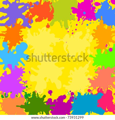 Abstract background, various colored stains blots - stock photo