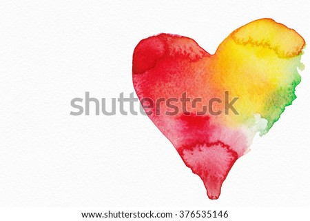 Abstract background watercolor. By St. Valentine's Day.  - stock photo