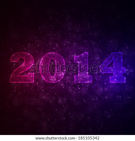 Abstract background with 2014