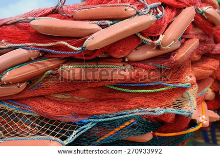 Abstract background with a fishing nets - stock photo