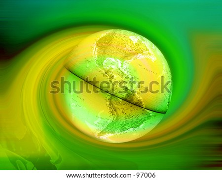 Abstract Background with an earth globe on it - stock photo