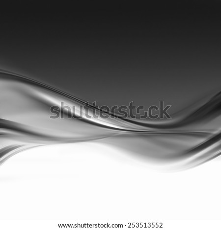 abstract background with black and white smooth lines - stock photo
