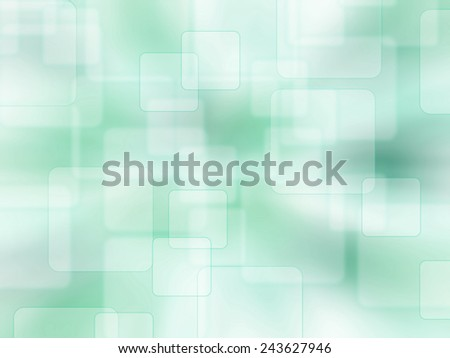 abstract background with blur square - green - stock photo