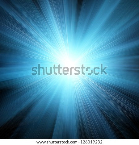 abstract background with blurred magic neon blue light rays