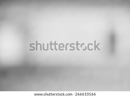 abstract background with blurred objects, gray color - stock photo