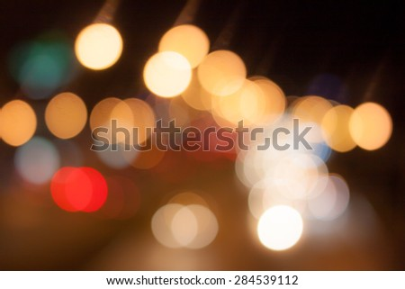 abstract background with bokeh de-focused lights