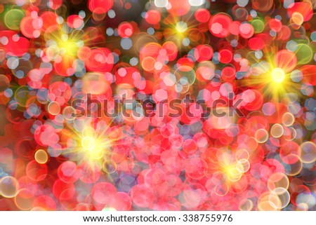 abstract background with bokeh lights on bright colors