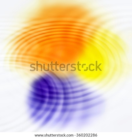 Abstract background with bright color spots and concentric ripples - stock photo