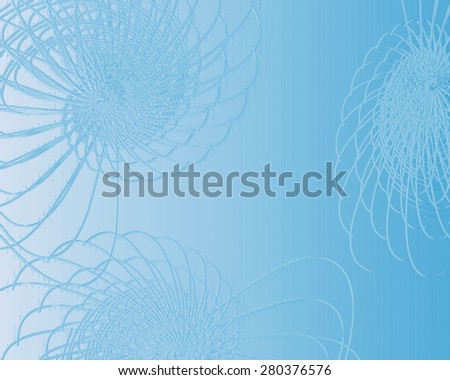 Abstract background with bright gossamer