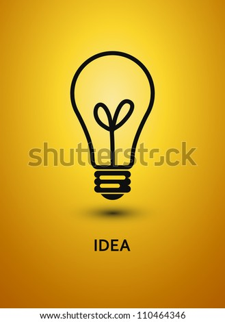Abstract background with bulb. Jpeg version. - stock photo